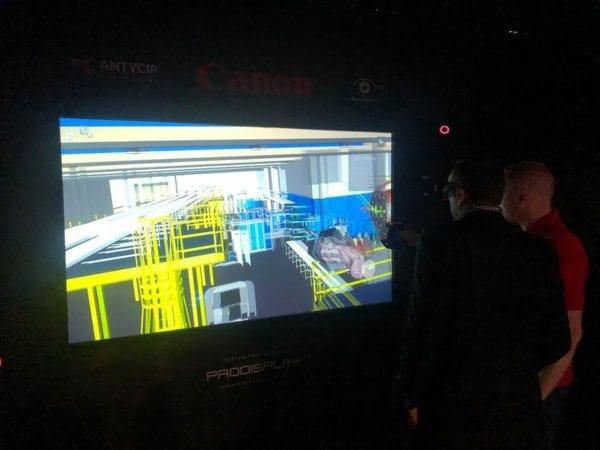 3D Digital Glass Canon Demonstration Exhibition