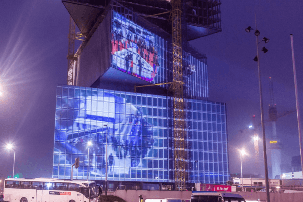Projection Mapping Film - ISE 2019 nhow Hotel Front Projection Business content