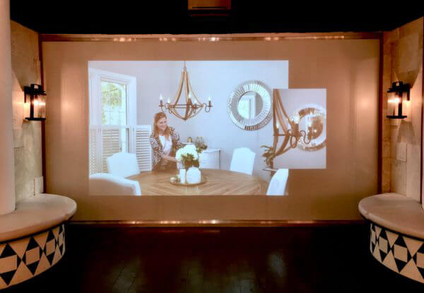 Bathroom Interior Designer Showroom using 360 projection film