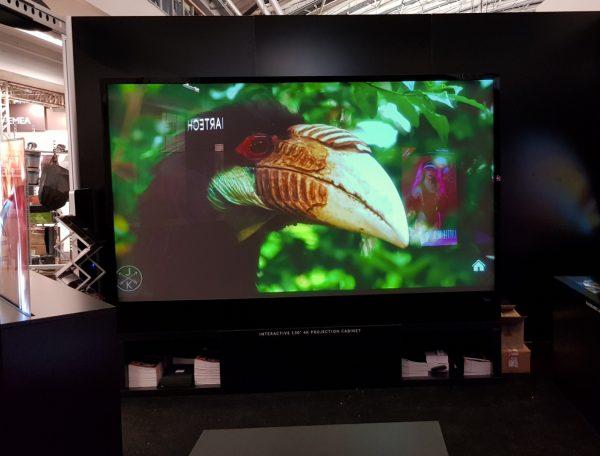 Digital Glass UST Rear Projection Screen