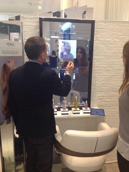 Interactive Mirror Screen
