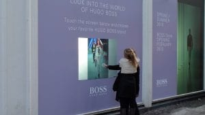 Interactive Projection Foil engages passers-by
