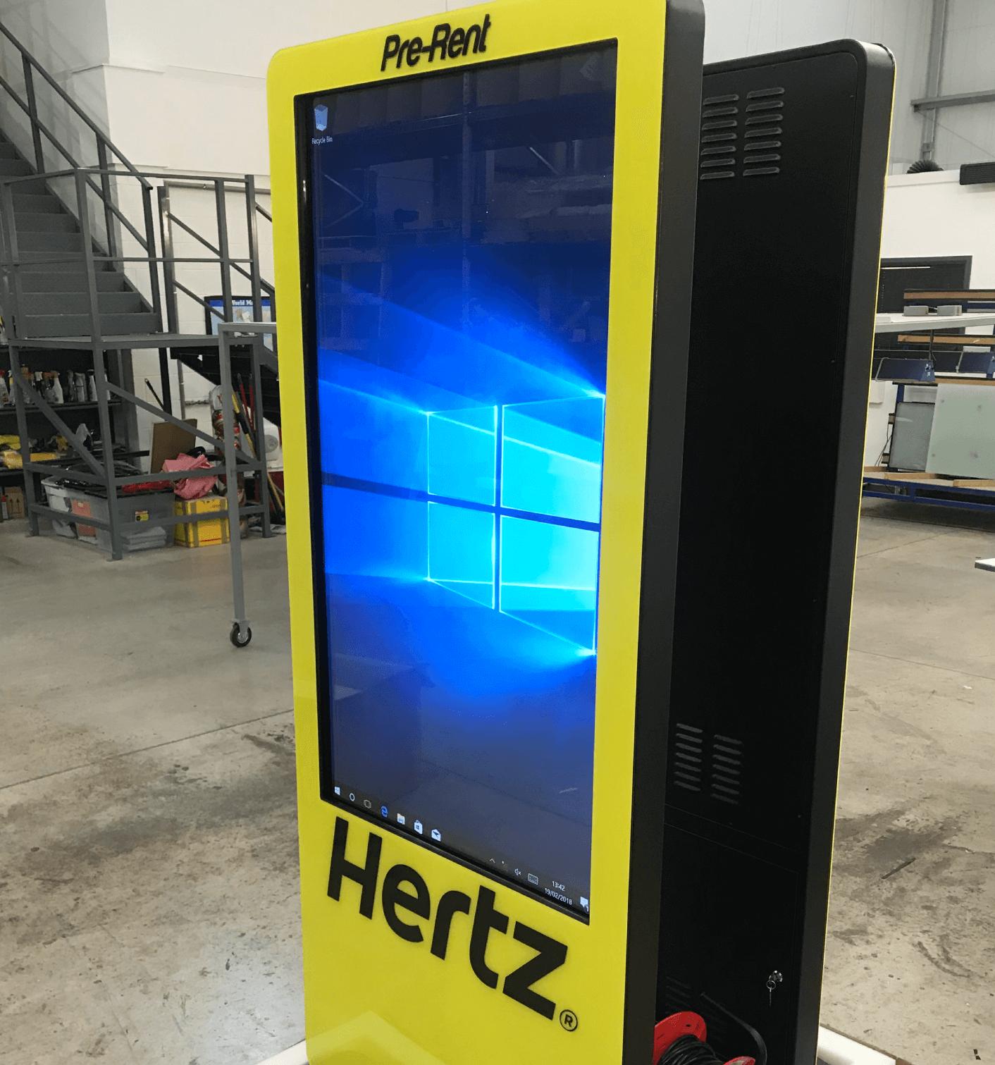 Hertz Kiosk with custom display branding
