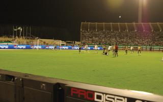 stadium perimeter led display with Pepsi branding