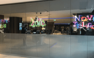 mirror video wall display system in novotel hotel, London