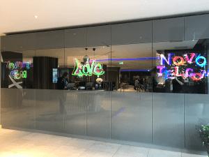 novotel LCD mirror wall