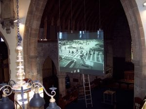 church projection screens- projection solutions for churches