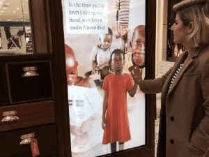mirror touch screen at Westfield Shopping Centre
