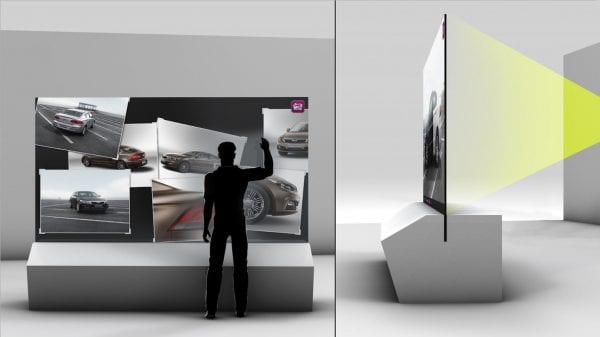 """Projection technology """"throws"""" the image at the screen, requiring a throw distance"""