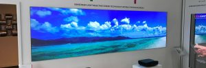 ambient light rejecting projector screen at pro display gallery