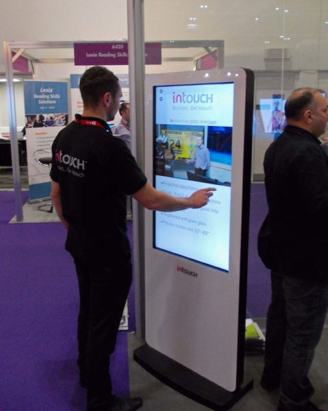 branded digital signage kiosk exhibitions