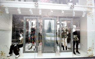 commercial grade mirror screen window displays