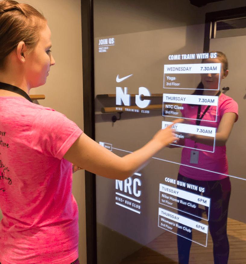 custom mirror touch screen