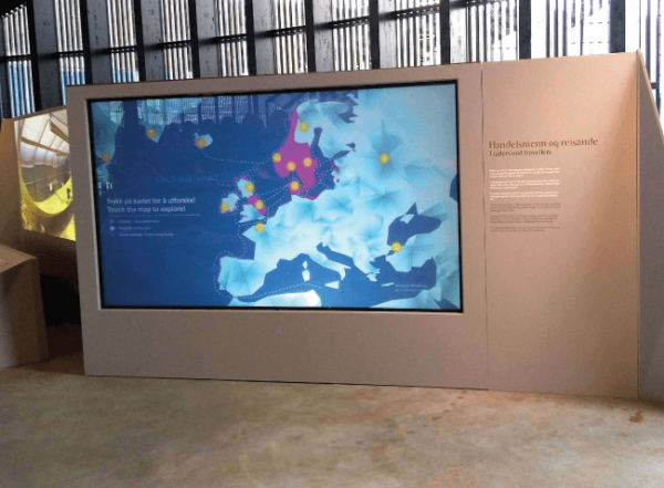 digital glass museum display in Norway