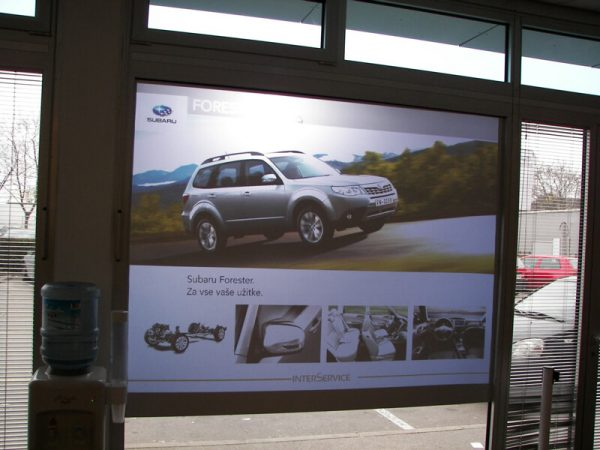 Front Projection Film Information Screens
