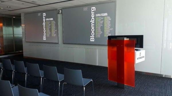 front projection film advertising