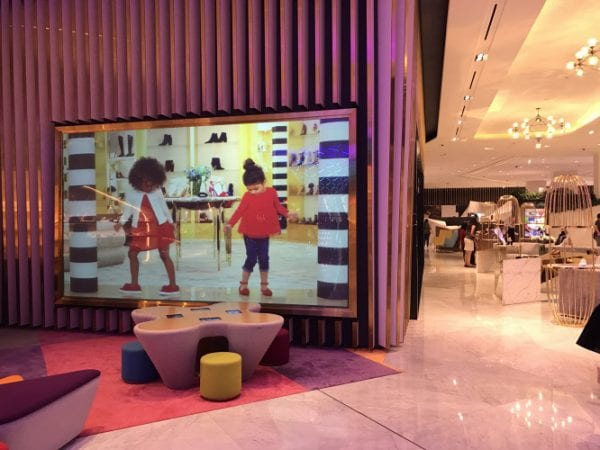 Digital Glass Projection Screen - Level Shoes, The Dubai Mall