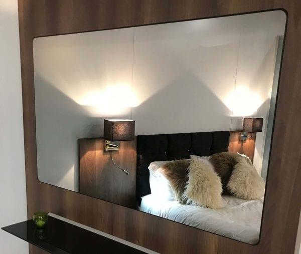 Designer Interactive Mirror Wall Panel in hotel room