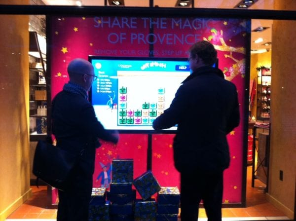 interactive touch foil retail stores