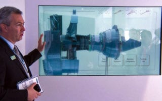 interactive transparent screen store window displays