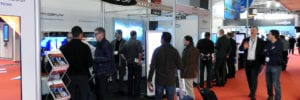 Pro Display at ISE 2016 busy stand