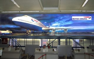 large format dual projection screens exhibitions