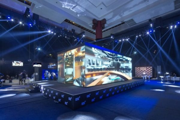 360 Degree Dual Image Projection Screen