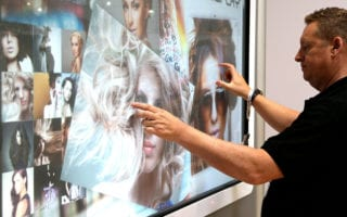 large touch screen museums