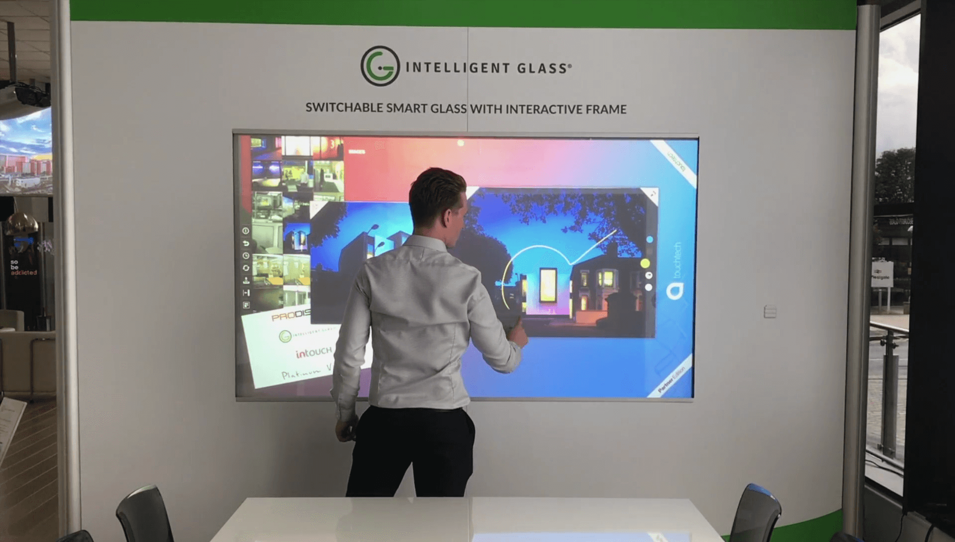 Multi Touch Switchable Smart Glass