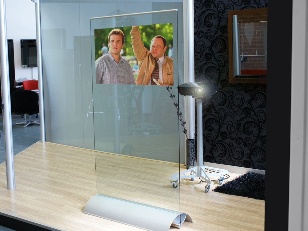 Rear Projection Glass Stands