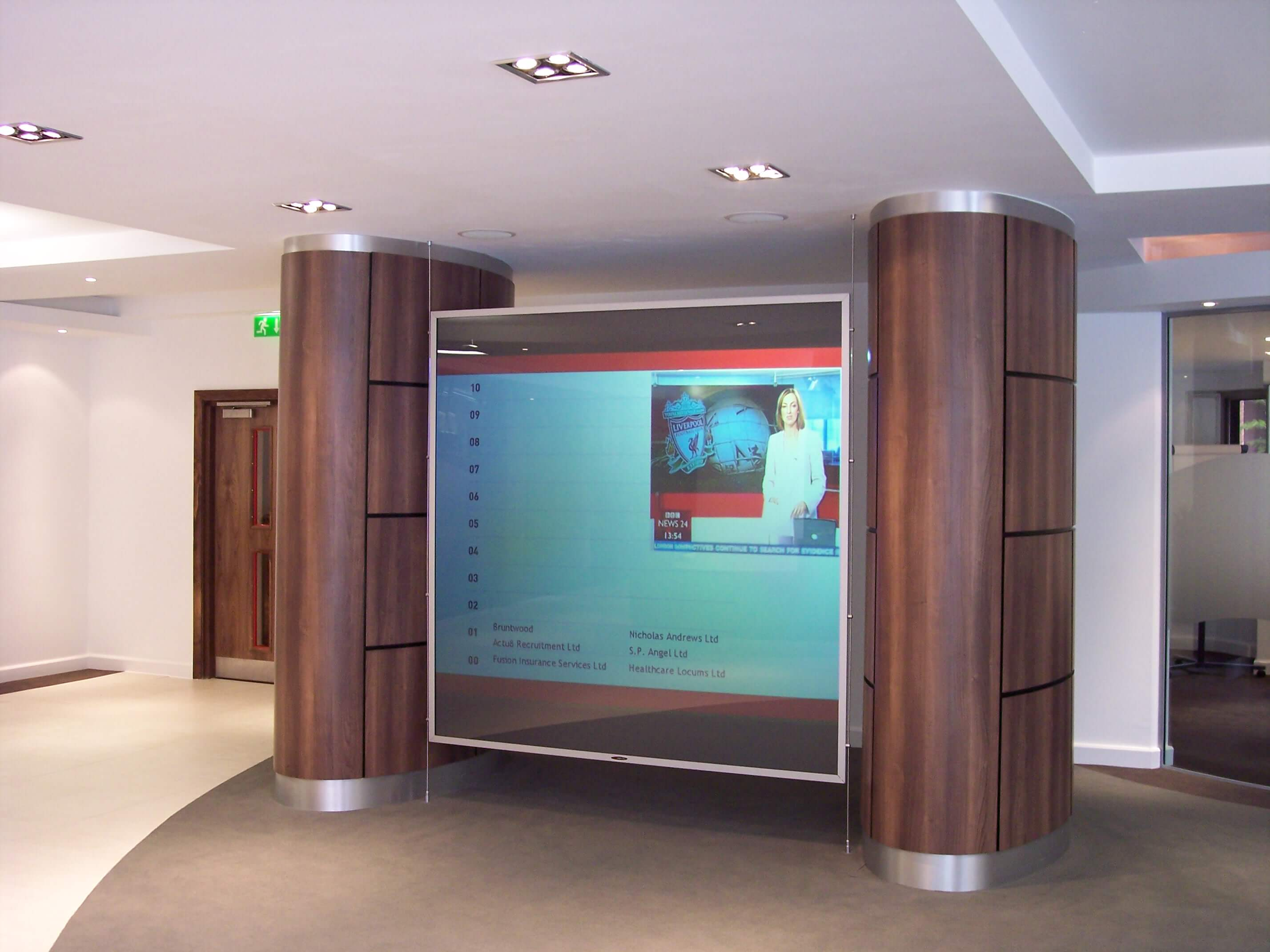 rear projection screen advertising