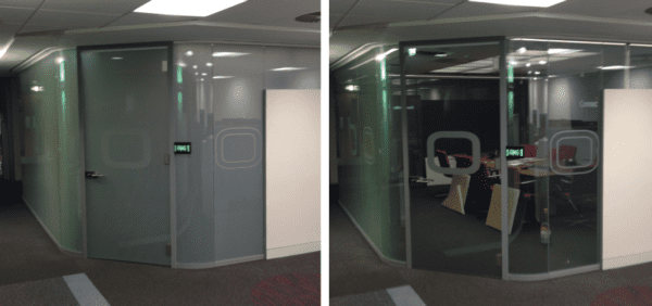Switchable Study Pods with Sound Insulating Acoustic Switchable Glass offers the ultimate in privacy solutions