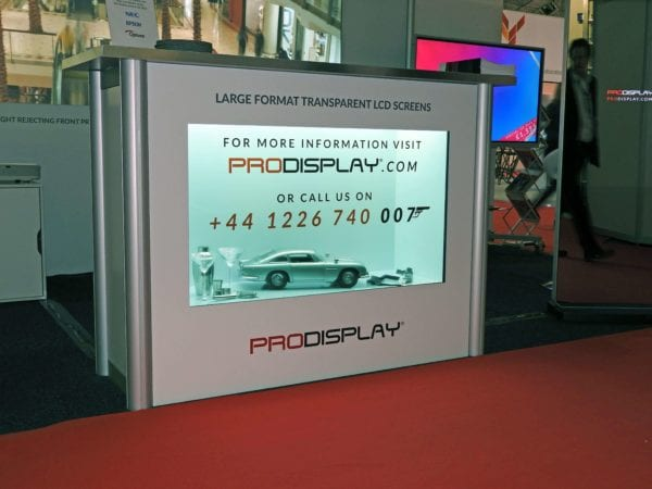 transparent display showcase box product launches