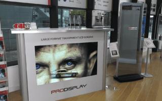 transparent lcd pos display