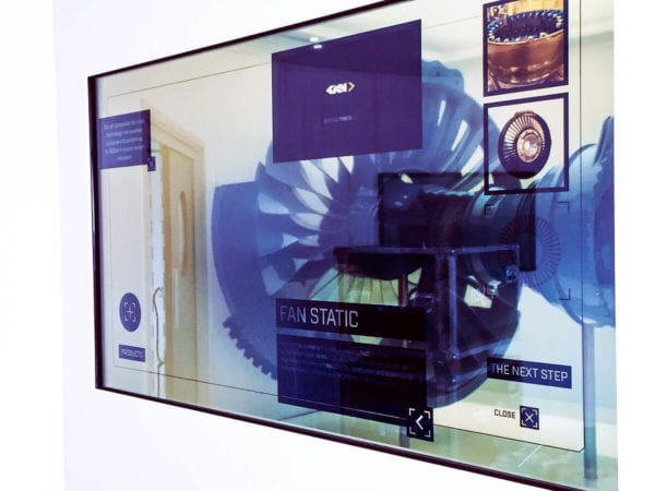 Interactive Transparent Touch Screen