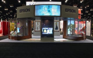 ultra short throw rear projection film exhibitions