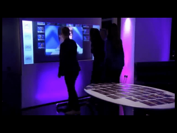 X Factor Judges interacting with Interactive Pro Diffusion Screen