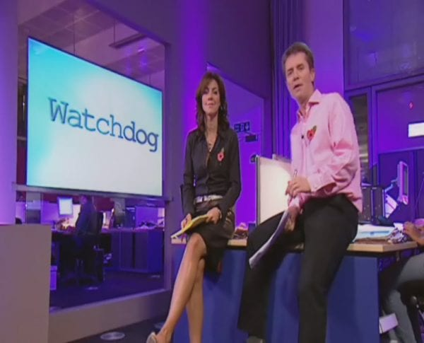 BBC's Watchdog uses Switchable Glass screen to display content